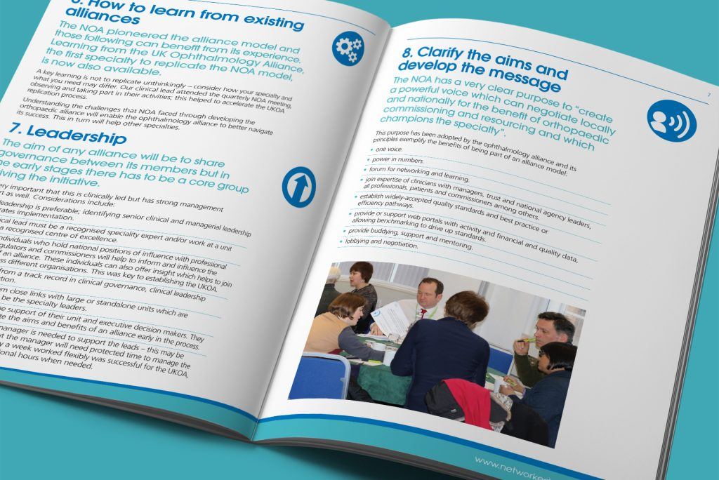 NHS Vanguard report spread – Networked care