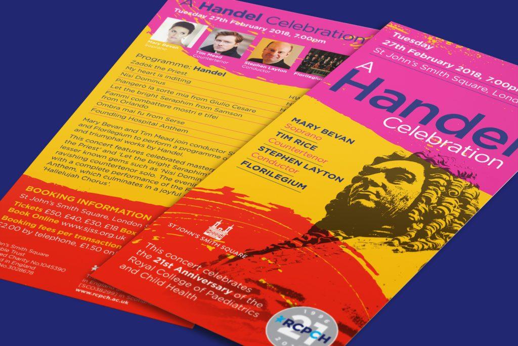 RCPCH Fundraising materials – A Handel celebration