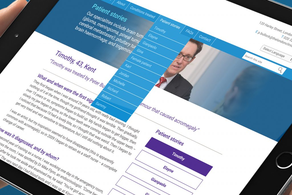 Patient stories on Neurosurgeon website for Mr Peter Bullock