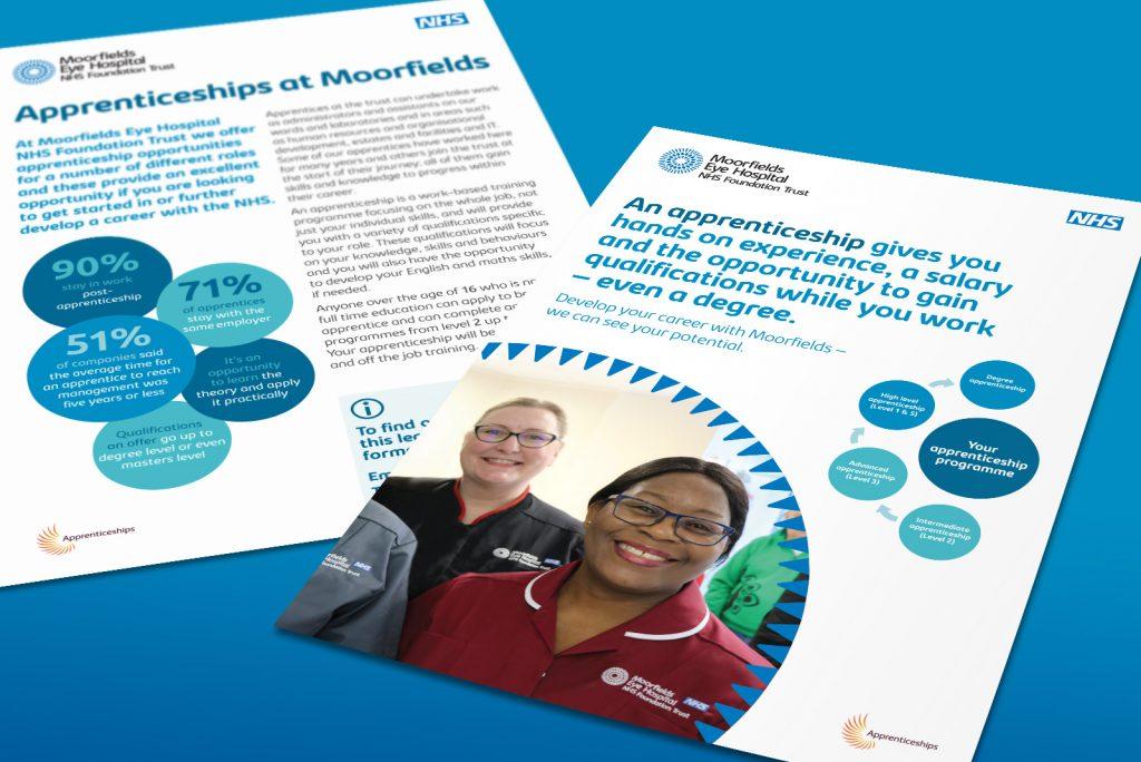 Moorfields Eye Hospital Apprenticeships leaflet